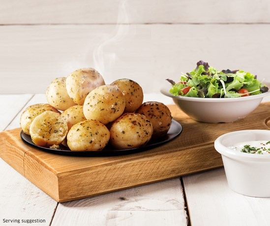 Chicago Town Garlic & Herb Dough Balls with salad